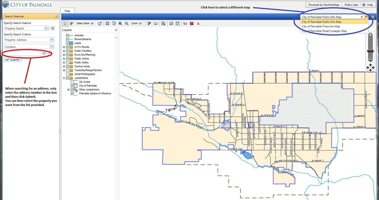 City of Palmdale Interactive GIS